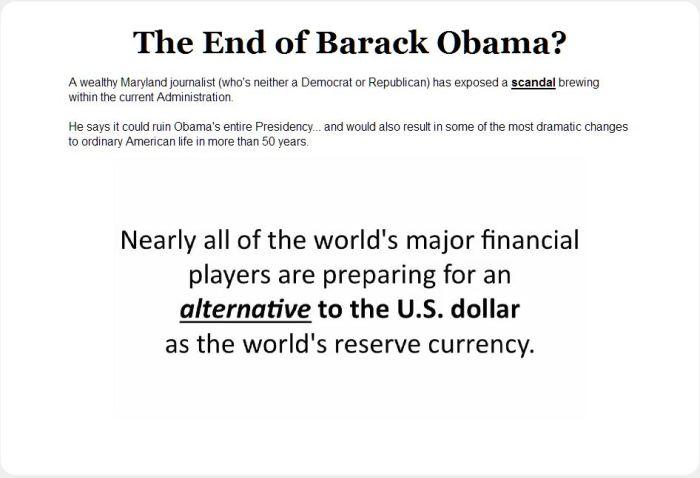 End Of Barack Obama