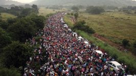 caravans breaching border